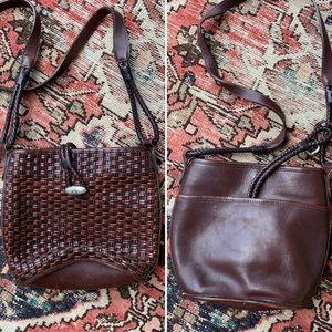 Brighton Woven Leather Crossbody Bag